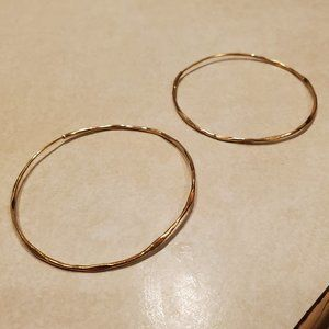 Francesca's Collections Hammered Hoop Earrings